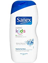 Sanex Dermo Kids Head to Toe Bodywash & Foam Bath 500ml