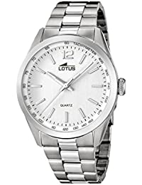 Lotus Men's Quartz Watch with Silver Dial Analogue Display and Silver Stainless Steel Bracelet 18146/1