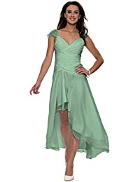 Astrapahl, Cocktailkleid, Abendkleid, breite Träger, Festkleid, Brautkleid, Farbe seegrün