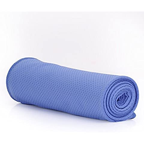Sports Instant Cooling Towel, MoKo Super Absorbent Towel Snap Quick Dry Golf Towel Yoga Towel, Cooling for Running, Biking, Hiking, Climbing, Basketball, Football, Tennis and Other Sports - Light