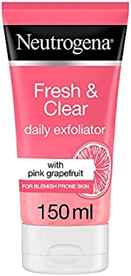 Neutrogena, Fresh & Clear Daily Exfoliator, Pink Grapefruit & Vitamin C, Blemish prone ski