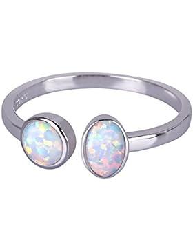 KELITCH Doppel Rundung Geschaffen-opal Fingerring
