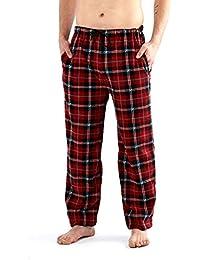 c3956f371e Generic Men s Classic Checked Polar Fleece Trouser Flannel Pyjamas Bottoms  PJ s