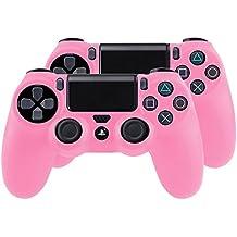 Bundle - 2x Funda Cubierta de silicona para PlayStation 4 / PS4 Dualshock 4 Controller Controlador Mandos, rosa