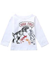 POLP Niño Invierno Unisex Camiseta de Manga Larga para niños Otoño Invierno Ropa Deportiva Bebe Niña
