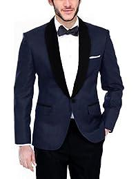 BREGEO Men's Cotton Blazer
