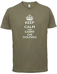 Keep calm and Carry on Golfing - Herren T-Shirt - 13 Farben
