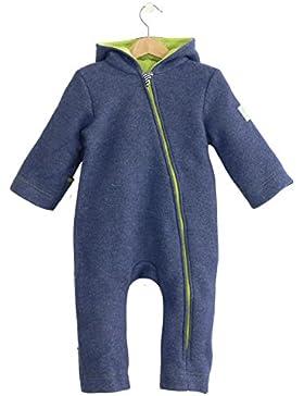 bubble.kid berlin - Unisex Baby Mädchen Jungen Herbst Winter Anzug Overall Einteiler, Soft Walk Wolle