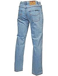 Mens Casual Work Jeans Texas Regular Fit Lightwash