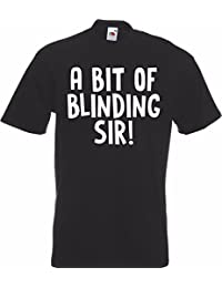 A BIT OF BLINDING SIR! SIMPLY LOVELEH Lovely T-Shirt TShirt Adult Mens Rude