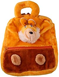 JBB Original Cute Teddy Soft Toy School Bag For Kids, Travelling Bag, Carry Bag, Picnic Bag, Teddy Bag (Brown).