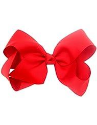 Oubang El pelo lindo grande 15cm arquea los cabritos de los cabritos de los cabritos Bowknot Hairpins Clip Ribbon Headbands