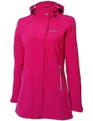 Chubasquero para mujer Softshell Dry Fashion Sylt, Farbe:dunkelpink;Größe:36