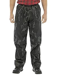 Mens Waterproof Over-Trousers Lightweight Plain Printed