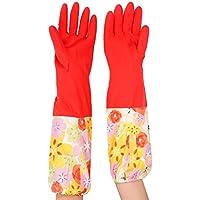 TININNA 1 paio di guanti per la pulizia,floreale in gomma,,Household