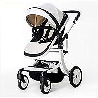 SHOWGG Carro de bebé, Cochecito Amortiguador en Las Cuatro Ruedas, Alto Paisaje Plegable Coche