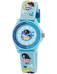 Peppa Pig Boy's Quartz Watch with Blue Dial Analogue Display and Blue Silicone Strap PP002