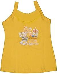 Babeezworld Baby Girl's Cotton Cut Sleeve Sleeveless Regular Fit Vest Spaghetti Slips Camisole (Kids Pack Of 1)