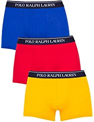 Polo Ralph Lauren Homme 3 pack classique Pouch stretch Logo Trunks, Multicolore