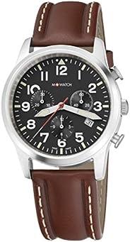 M-WATCH Swiss Made Aero 41 Analog Black Dial Men's Watch-WBL.0842