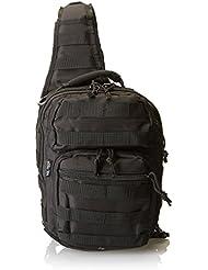Mil-Tec - Mochila-bandolera de asalto (30 x 22 x 13cm), color negro
