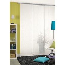 Deko Trends Forte 8888 01 070 - Estor con riel de aluminio y barra de contrapeso, color blanco (245 x 60 cm)