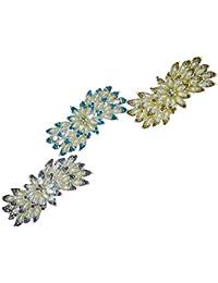 AVMART Set Of Three Stone Studded Hair Clips For Women & Girls For Wedding Party Hair Clip