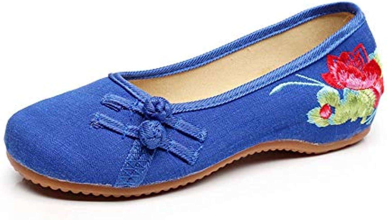 1635874e4eda6b la broderie occasionnels petits lotus lotus lotus b07cstgfxl mocassins  plats et des chaussures de parent   Excellent (dans) La Qualité ccc82b