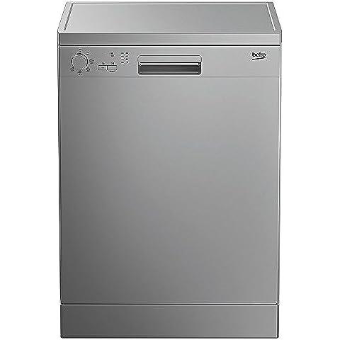 Beko DFN05211S Freestanding 12espacios A+ Plata lavavajilla - Lavavajillas (Independiente, A, A+, Plata, Economía, Intensivo, Rápido, Inferior, superior)