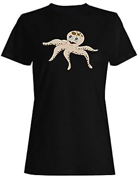 Lindo nuevo smiley arte camiseta de las mujeres e184f