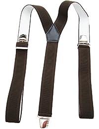 Bretelles 3 bandes marron