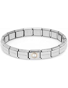 Nomination Starter Set Armband Classic Edelstahl Weiße Perle 19cm