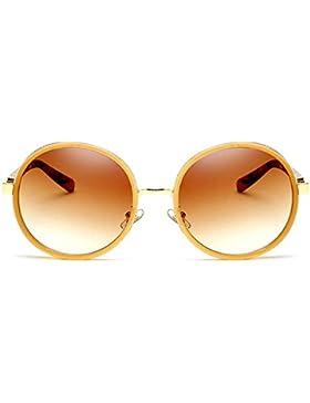 Gafas de sol de protección UV de gafas de sol de moda retro marco redondo