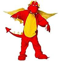 Wicked - Costume da drago sputafuoco per bambini e bambine, disponibile in 4 taglie - 5-6 anni