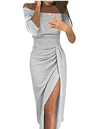 LANSKRLSP Elegante Vestito Dorato Lustrini Cerimonia Vestiti da Cerimonia  Corti Le Donne Sexy Moda Maniche Lunghe 4eaa229456f