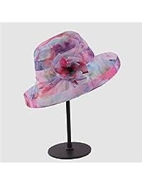 b8026e04216e8 Zhou Yunshan Silk Hat Lady Corea del Sur Mulberry Silk Sunblock se Puede  Doblar en un