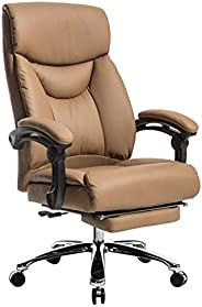 Company Office Chair Business Boss Chair Home Computer Chair Comfortable Swivel Chair With Footrest Backrest C