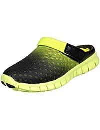 SAGUARO® Unisex Respirable de la Red del Acoplamiento Zapatillas de Playa  Ahueca hacia Fuera Las a7cbab5abdd