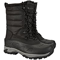 Mountain Warehouse Ice Peak High Mens Snow Boots - Suede Upper, Waterproof, Breathable, Microfibre Lining, Moulded Heel & Toe Bumper - Lab Tested in -40C - for Winter