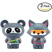 2PCS Squishy Panda + Fox