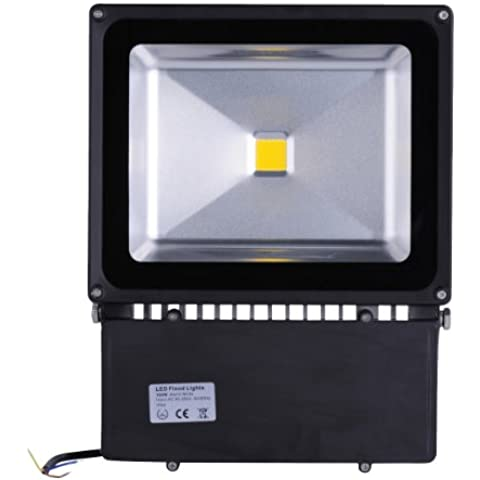 10W 20W 30W 50W 70W 100W LED de luz de inundación impermeable del reflector del paisaje Iluminación de la lámpara 85-265V Blanco Cálido (1, Blanco