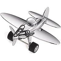 Troika GAM12/CH - Kit de avión pisapapeles  y 5 clips, plateado