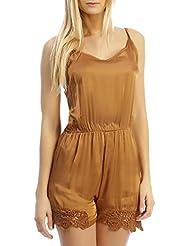 INFINIE PASSION - Camello - Combinación de pantalones cortos de seda