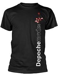 Official Depeche Mode - Violator Side Rose - Black Cotton T Shirt