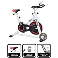 ATAA Bici Spinning - Bicicleta estática fitness con pantalla LCD, manillar y asiento ajustable semi profesional
