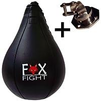 FOX-FIGHT LEDER SPEEDBALL + SWIVEL 1 SET BOXBIRNE BOXBALL DREHKUGELLAGERUNG GELENKSCHRAUBE
