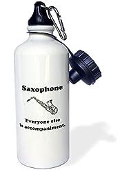 statuear saxofón aluminio 20oz 600ml Deportes botella de agua regalo