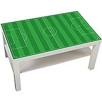 Preisvergleich für Möbelaufkleber Fußballfeld grün - passend für IKEA LACK Couchtisch - klein - DIY Kickertisch - Möbel nicht inklusive