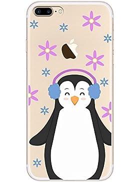 Teryei® Funda iPhone 7 Plus Clear TPU Silicona Protección Premium Transparente ultrafina Choque Caso cover Suave...
