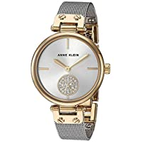 Anne Klein Womens Quartz Watch, Analog Display and Stainless Steel Strap AK3001SVTT